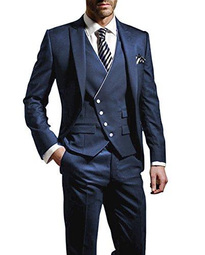Suit Me Herren Anzug Slim Fit, Blau