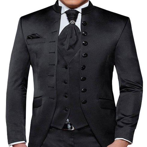 Herren Anzug - 8 teilig - Schwarz Cut Nadelstreifen Designer Hochzeitsanzug TOP ANGEBOT PC_01 (60) - 2