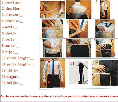 Lilis® Herrenanzug 3pc Anzug Einreiher Slim Fit Kleid Anzug Jacken Weste & Hose - 2