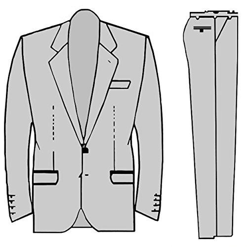 Schwarzer Hochzeitsanzug Set 7tlg + Hochzeitswesten Set silber grau paisley + Hochzeitshemd weiß - 6