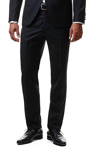 Paco Romano Herren Smoking Anzug Jacket Sakko Hose Schwarz 2-Teilig Slim Fit Premium Cotton 80% Wolle Gentleman Hochzeit Feier Dinner 67712, Farbe:Schwarz, Größe:54 / XL - 5