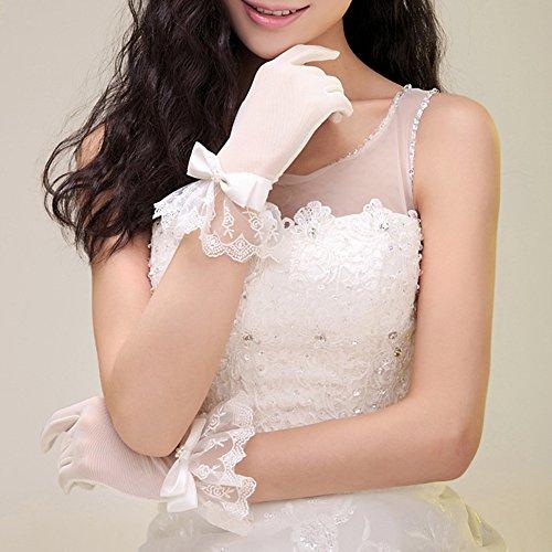 Der neue Retro-Mode kreative gehobene exquisite Brauthandschuhe Hochzeitshandschuhe Brautkleid Brautkleid Spitze Handschuhe kurz Handschuhe Beige Brauthandschuhe Handschuhe Spitzenhandschuhe Hochzeit Handschuhe -