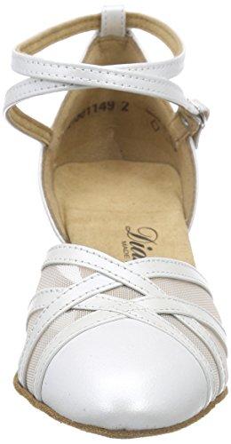 Diamant Damen Tanzschuhe 147-068-391, Damen Tanzschuhe - Standard & Latein, Elfenbein (Perlato Weiß), 40 2/3 EU (7 Damen UK) - 4