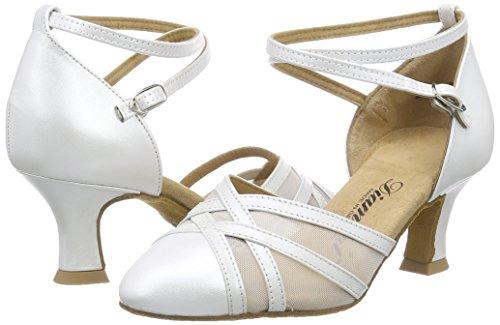 Diamant Damen Tanzschuhe 147-068-391, Damen Tanzschuhe - Standard & Latein, Elfenbein (Perlato Weiß), 40 2/3 EU (7 Damen UK) - 5