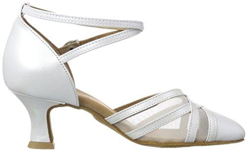 Diamant Damen Tanzschuhe 147-068-391, Damen Tanzschuhe - Standard & Latein, Elfenbein (Perlato Weiß), 40 2/3 EU (7 Damen UK) - 6