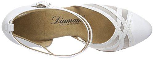 Diamant Damen Tanzschuhe 147-068-391, Damen Tanzschuhe - Standard & Latein, Elfenbein (Perlato Weiß), 40 2/3 EU (7 Damen UK) - 7