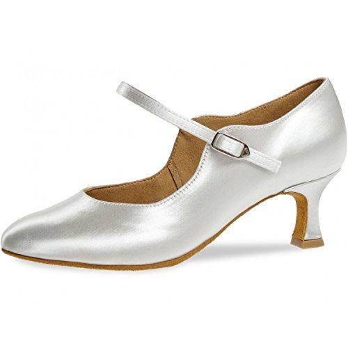 Diamant Damen Standard-& Latintanzschuhe, Weiß