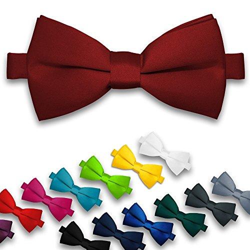 NEU: Fliege Herren Hochzeit Konfirmation verstellbar Schleife klassisch gebunden, Farbe:lila - 2