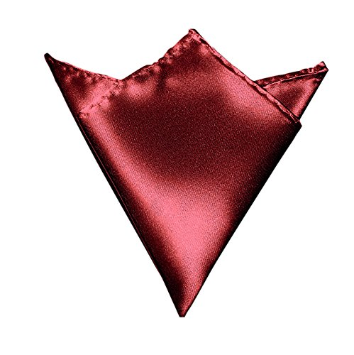 3-SET Fliege Weinrot Rot Manschettenknöpfe Einstecktuch Satin Seiden Optik - Schleife zum Anzug - 3