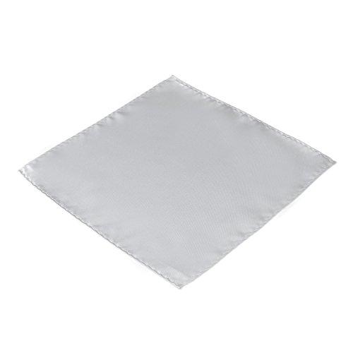 DonDon 3er Set Herren Kummerbund Fliege Einstecktuch farblich abgestimmt glänzend für feierliche Anlässe - Silber-grau - 4