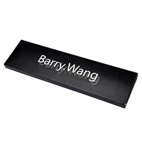 Barry. Wang, Krawatten-Set im Blumenmuster mit Einstecktuch und Manschettenknöpfen Gr. Einheitsgröße, elfenbeinfarben - 4