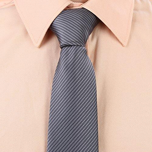 Zicac Krawatte Set, Klassischer Schnitt, Dunkelgrau