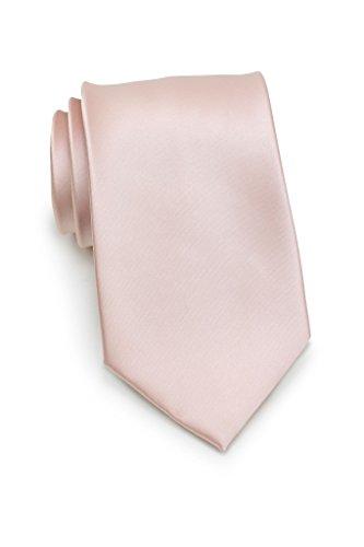 PUCCINI Rosa Krawatte Herren, Einfarbig, Satin-Glanz