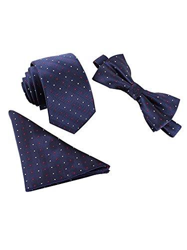 Herren Set aus Krawatte, Einstecktuch, Fliege
