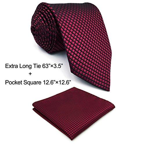 Shlax & Wing Herren Krawatte und Einstecktuch extralang