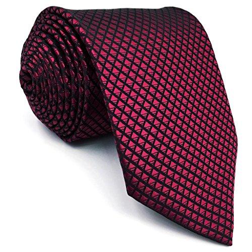 Shlax & Wing Extra Lang Größe Hochzeit Mehrfarbig Einfarbig Color Rot Crimson Herren Krawatte Seide - 2