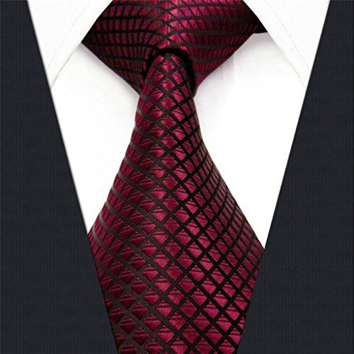 Shlax & Wing Extra Lang Größe Hochzeit Mehrfarbig Einfarbig Color Rot Crimson Herren Krawatte Seide - 3