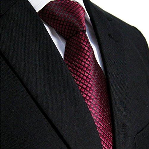 Shlax & Wing Extra Lang Größe Hochzeit Mehrfarbig Einfarbig Color Rot Crimson Herren Krawatte Seide - 5