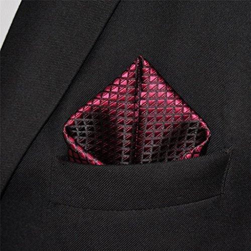 Shlax & Wing Extra Lang Größe Hochzeit Mehrfarbig Einfarbig Color Rot Crimson Herren Krawatte Seide - 8