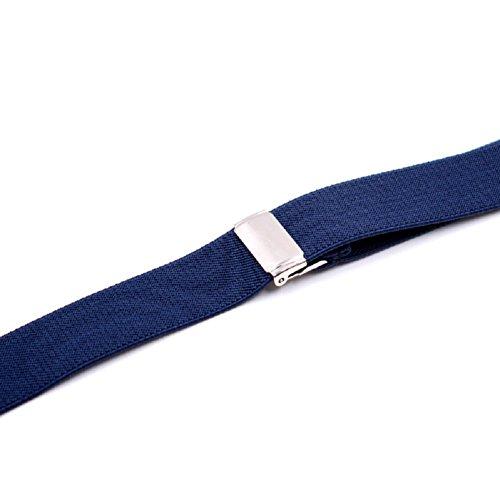 DEBAIJIA Unisex Hosenträger mit Fliege Set für Damen Herren Jugendliche Schick Design 3 Clips Elastisch Gürtel Längeverstellbar 155-180 Körperhöhe - Dunkelgrau - 4