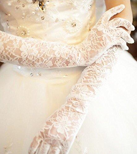 Elegante Hochzeits-Handschuhe Braut-Brautpartei-Kleid-Spitze-Handschuhe-02 -