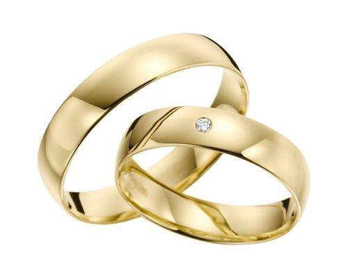 333 GOLD Trauringe - Rubin Juwelier- Gelbgold