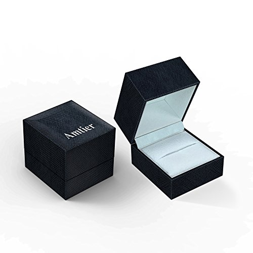 Amtier Paar-Ring Edelstahl-Ringe für Paar Eheringe Gravur Herrenring Damenringe 5mm mit Geschenkbox - 7
