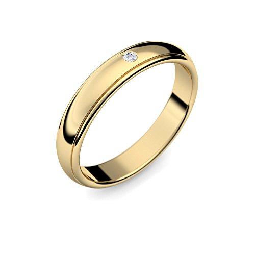 Eheringe Trauringe Gold Set AMOONIC mit Zirkonia Freundschaftsringe Paarpreis Verlobungsringe Partnerringe Silber hochwertig vergoldet Ringpaar Hochzeitsringe Eheringe Luxusetui ER88VGGGZIFA-5060 - 3