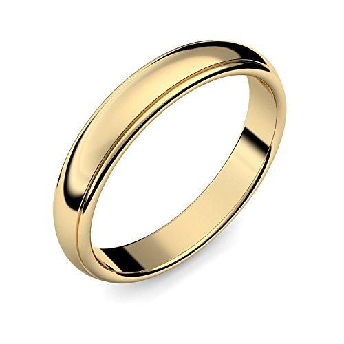 Eheringe Trauringe Gold Set AMOONIC mit Zirkonia Freundschaftsringe Paarpreis Verlobungsringe Partnerringe Silber hochwertig vergoldet Ringpaar Hochzeitsringe Eheringe Luxusetui ER88VGGGZIFA-5060 - 4