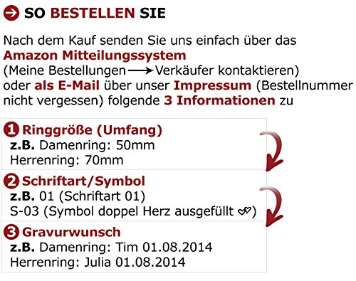Adomio -Ringe 2 Trauringe Verlobungsringe Edelstahl Rosegold vergoldet - ca. 15 Zirkonia weiss gratis Wunschgravur E-FT-HD - 3
