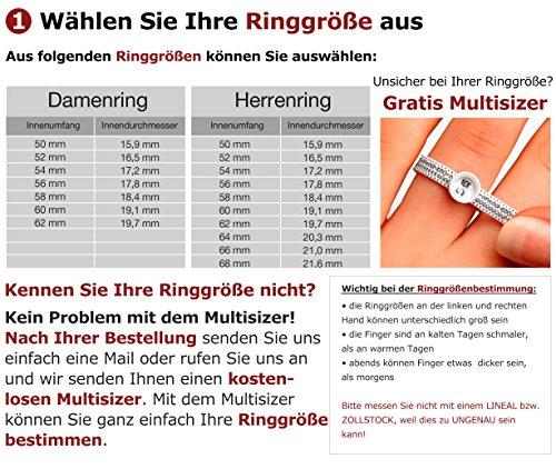 Adomio -Ringe 2 Trauringe Verlobungsringe Edelstahl Rosegold vergoldet - 1 Zirkonia weiss gratis Wunschgravur E-FA-HD - 4