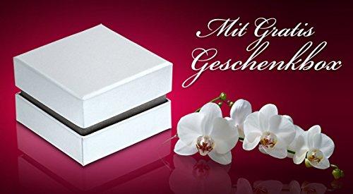 Adomio -Ringe 2 Trauringe Verlobungsringe Edelstahl Rosegold vergoldet - 1 Zirkonia weiss gratis Wunschgravur E-FA-HD - 7