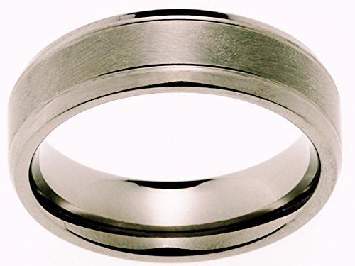 2 Eheringe Trauringe Verlobungsringe Ringe aus Titan mit Diamant und Laser Gravur - 4