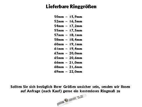 Titanringe Verlobungsringe Eheringe Trauringe Hochzeitsringe aus Titan mit 925 Silber und Zirkonia Gravur HT136 - 2