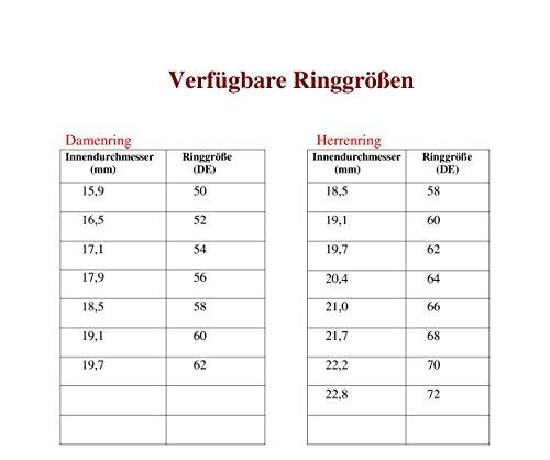 Eheringe Partnerringe Trauringe Verlobungsringe Freundschaftsringe aus Titan mit Zirkonia / Laser Gravur GRATIS - 3