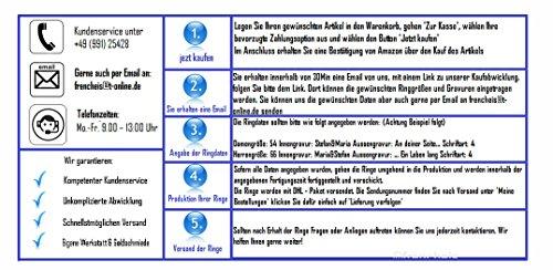 Titanringe Verlobungsringe Eheringe Trauringe Hochzeitsringe aus Titan mit 925 Silber und Topas Gravur TS633 - 4