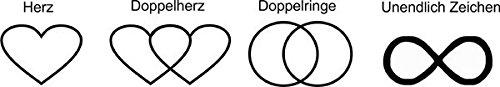 JC TRAURINGE 2 HEARTS COLLECTION 333er EHERINGE 8 KARAT ROT- & WEIßGOLD J137 - 3