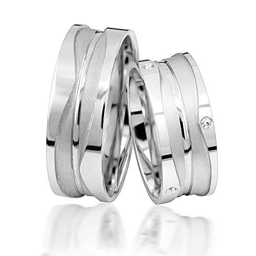 JC Verlobungsringe Silber 925 Sterling inkl. GRATIS Etui