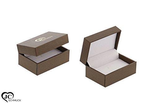 JC Eheringe Verlobungsringe Trauringe Freundschaftsringe Silber 925 Sterling *inkl. GRATIS Etui und Steine* S012-S - 5