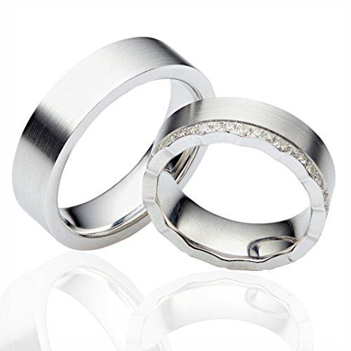 2x Silber Eheringe in 925 Sterling Silber