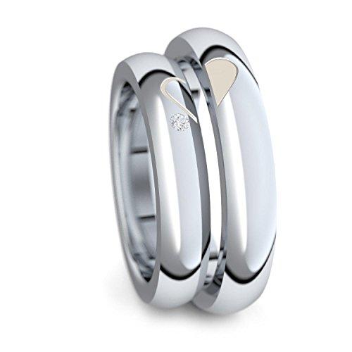 Trauringe Silber 925 + GRATIS Luxusetui Zirkonia