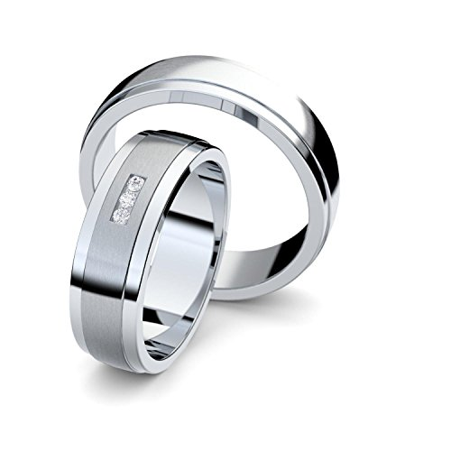 Trauringe Silber 925 * +GRATIS Luxusetui * Zirkonia