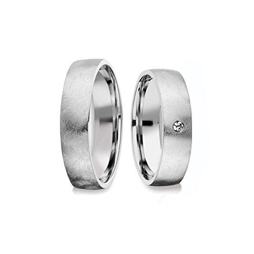 Eheringe Silber 925 *GRATIS Luxusetui* mit Zirkonia