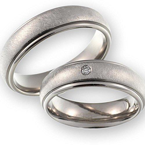 CORE by Schumann Design Trauringe Eheringe aus Titan/Titanium mit echten Diamanten inkl. Gravur ST050.11 - 2