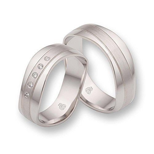 CORE Design Eheringe, 925 Silber mit Zirkonia