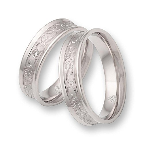 CORE Design Eheringe aus 925 Silber mit Zirkonia