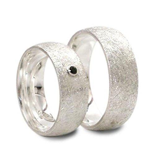 Silberne Partnerringe aus 925er Sterlingsilber