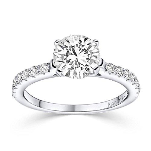 Verlobungsringe mit Zirkonia Stein Silber 925