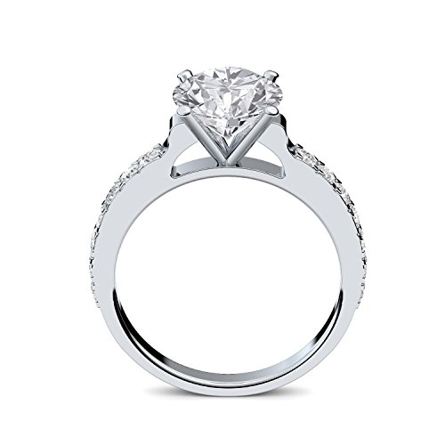 Verlobungsringe mit Zirkonia Stein Silber Damen 925 + LUXUSETUI! Verlobungsring Heiratsantrag Idee Antrag Hochzeit Idee Silberring Ring Zirkonia wie Diamant-Ring Damenring AM289 SS925ZIFAZIFA54 - 3