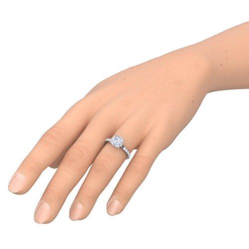Verlobungsringe mit Zirkonia Stein Silber Damen 925 + LUXUSETUI! Verlobungsring Heiratsantrag Idee Antrag Hochzeit Idee Silberring Ring Zirkonia wie Diamant-Ring Damenring AM289 SS925ZIFAZIFA54 - 4